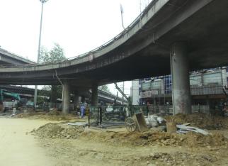 成都青龍場立交橋樁基托換工程
